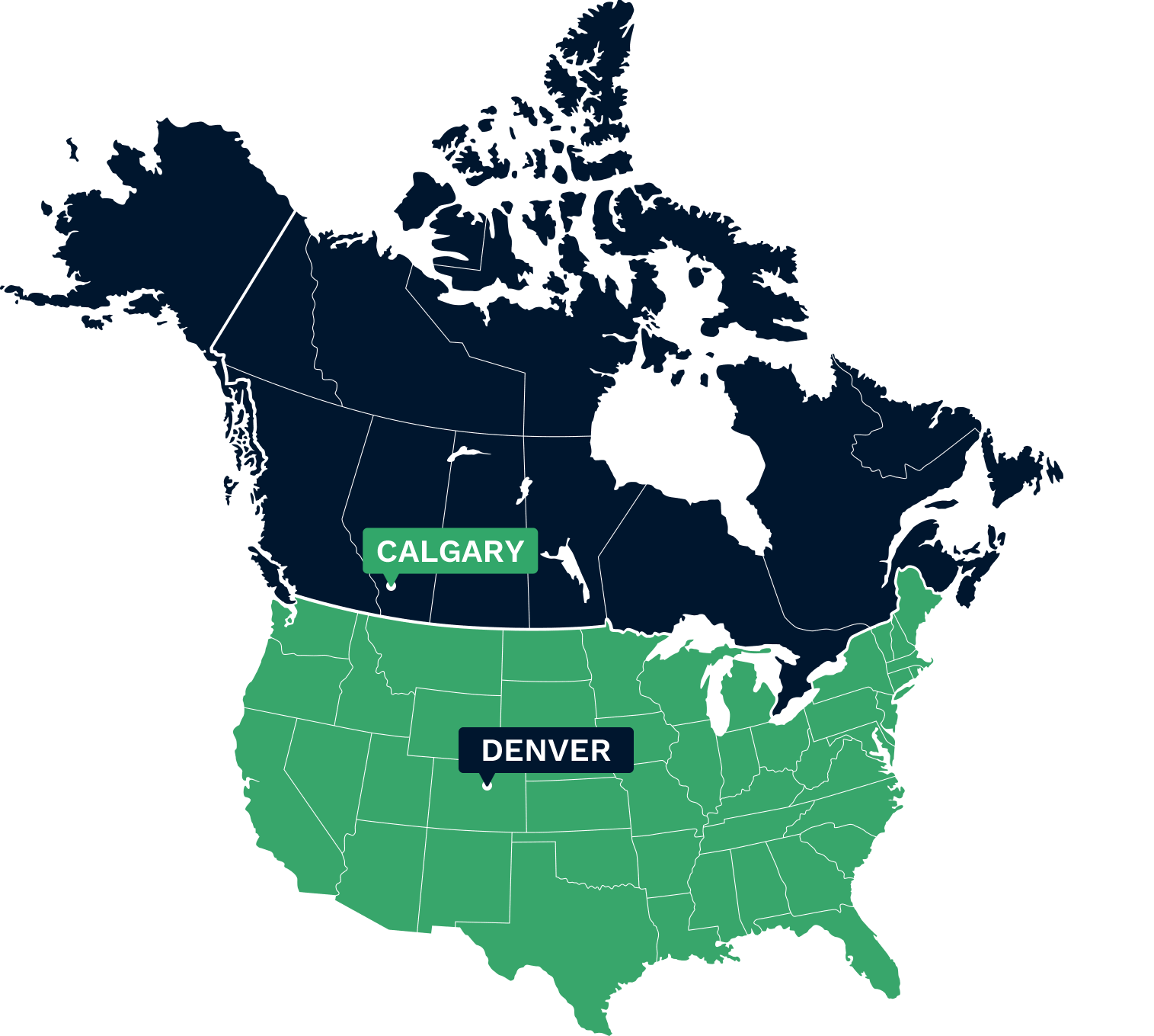 Calgary Canada Map Of North America.Company